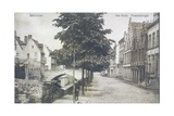 Postcard Depicting a Canal with Old Bridge in Bruges, c.1912 Giclee Print by  Belgian Photographer