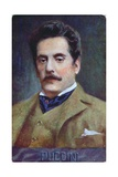 Postcard Portrait of Giacomo Puccini, c.1910-15 Giclee Print by  Austrian School