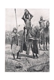 """Then Said Sir John Chandos """"Sire, Ride Forward, the Day Is Yours"""", Illustration from 'British… Giclee Print by Richard Caton Woodville II"""