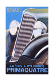 Brochure Advertising the Renault Primaquatre Automobile, c.1930 Giclee Print by  French School