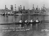 Great Britain, Gold Medallists in the Coxless Fours at the 1932 Los Angeles Olympic Games Photographic Print by  German photographer