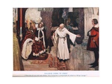 Galahad Comes to Court, Illustration from 'King Arthur' Giclee Print by William Hatherell
