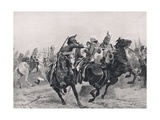 The Attack on Sir Ralph Abercrombie by the French Dragoons, Illustration from 'British Battles on… Giclee Print by Richard Caton Woodville