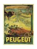 Poster Advertising Peugeot Cars, c.1908 Lámina giclée por Francisco Tamagno