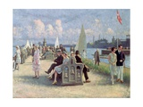 People on a Promenade Giclee Print by Paul Fischer