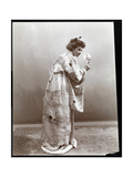 A Woman Modeling a Japanese Kimono, New York, 1904 Giclee Print by  Byron Company