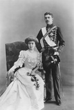 Gustav Adolf Bernadotte (1882-1973) Crown Prince of Sweden and His Fiancee Princess Margaret of… Photographic Print by  Reutlinger Studio