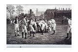 Eton Field Game Giclee Print by  English School