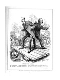 Lloyd George and Harcourt, Both Ministers in the Liberal Government, Disagree About Giving Votes… Giclee Print by Leonard Raven-hill