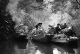 A Klong in Thailand, 1980 Photographic Print