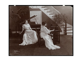 Two Women with a Piano and Recording Equipment, 1907 Giclee Print by  Byron Company