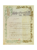 Score of the Opera, 'Don Carlos', by Giuseppe Verdi (1813-1901) Written on Paper Printed for the… Giclee Print