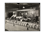 Display of Cold Meat in the Kitchen of the Commodore Hotel, 1919 Giclée-tryk af Byron Company