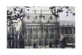 Postcard Depicting the Stadhuis at Bruges, c.1912 Giclee Print by  Belgian Photographer