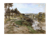 On the Banks of the Marne, 1904 Giclee Print by Léon Augustin L'hermitte