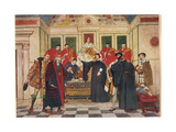 'In Which Predicament, I Say Thou Standst', Illustration from 'The Merchant of Venice', c.1910 Giclee Print by Sir James Dromgole Linton