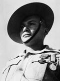 Portrait of Rifleman Ganju Lama VC MM, 1st Battalion, 7th Duke of Edinburgh's Own Gurkha Rifles Photographic Print by  English Photographer