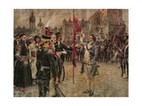 Tadeusz Kosciuszko Arrives in Cracow on the 24th March 1794 to Rally the Polish People to Fight… Giclee Print by Wojciech Kossak