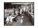 Men Working in the Hardman, Peck and Co. Piano Factory, New York, 1907 Giclee Print by  Byron Company