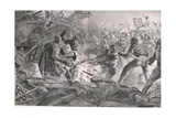 Philip Charged Again and Again Until He Was Pulled Off His Horse by the English Infantry,… Giclee Print by John Cameron