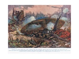 Captain A.M. Inglis Brings His Tank Forward over Very Difficult Ground after One of it's Wheels… Giclee Print by Alfred Pearse