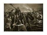 The Roman Attack on Anglesey Giclee Print by John Harris Valda