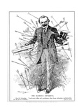 Lloyd George, Depicted as the Martyr, St. Sebastian, under Attack for His National Insurance Act,… Giclee Print by Leonard Raven-hill