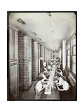 Women Working in a Filing Room, under Male Supervision, at the Metropolitan Life Insurance Co. at… Giclee Print by  Byron Company