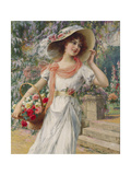 The Flower Girl Giclée-Druck von Emile Vernon
