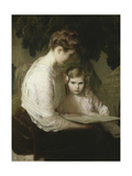 Mother and Child Reading, 1900 Giclee Print by Lilla Cabot Perry
