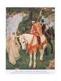 King Arthur Is Proffered Sword Excalibur, Illustration from 'King Arthur' Giclee Print by William Hatherell