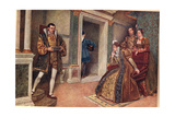 'But Thou, Thou Meagre Lead', Illustration from 'The Merchant of Venice' Giclee Print by Sir James Dromgole Linton