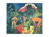 Nudes in the Sun, Moritzburg Giclee Print by Ernst Ludwig Kirchner