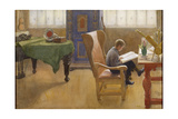 Esbjorn in the Studying Corner, 1912 Giclee Print by Carl Larsson