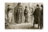 Ivan Shishman III Delivers Up His Sister to Sultan Murad I, 1366 Giclee Print by John Harris Valda