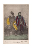 Polish Couple in Traditional Costume, Lodz, Poland 1914-18 Giclee Print by  German photographer