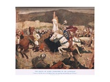 The Rescue of Queen Guenevere by Sir Lancelot, Illustration from 'King Arthur' Giclee Print by William Hatherell