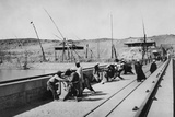 Opening the Sluices on the Nile Dam, 1906 Photographic Print by  English Photographer