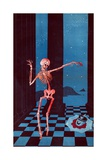 The Skeleton of Salome Dancing Beside the Head of Kaiser Wilhelm Lying in a Pool of Blood on a… Giclee Print by Paul Iribe