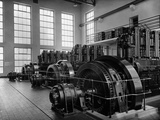 Generator Room at Oesterreichische Radioverkehrs A.G., Bisamberg Transmission Facility, Austria,… Photographic Print by  German photographer