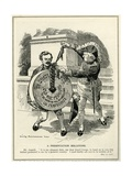 'A Presentation Millstone', Prime Minister Asquith Presents Chancellor of the Exchequer, Lloyd… Giclee Print by Edward Linley Sambourne