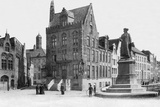 Jan Van Eyck Square, Bruges, Belgium, 1905 Photographic Print