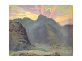Sunrise in the Lake District, 1915 Giclee Print by James Hamilton Hay