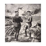 Lord Kitchener and General Joffre on the Western Front, 1915, from 'The War Illustrated Album… Giclee Print by  English School