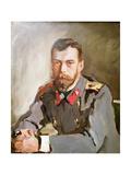 Portrait of Emperor Nicholas II, 1900 Giclee Print by Valentin Aleksandrovich Serov