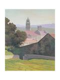 Landscape with Church, 1920 Giclee Print by Felix Edouard Vallotton