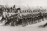 Russian Infantry Regiment Marching in Fighting Kit During World War I, from 'The Illustrated War… Photographic Print by  English Photographer