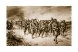 Dublins and Munsters Returning from the Victory at Ginch, 1914-19 Giclee Print by Christopher Clark