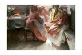 On a Visit Giclee Print by Abram Efimovich Arkhipov