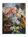 Still Life with Flowers, 1922 Giclee Print by Konstantin A. Korovin